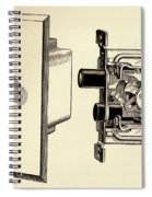 Old Push Button Light Switch Spiral Notebook