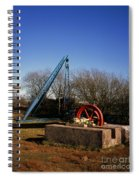Old Quarry Machinery Winter Day Tegg's Nose Country Park Macclesfield Cheshire England Spiral Notebook