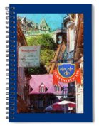 Old Quebec City Funicular Spiral Notebook