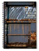 Old Railroad Boxcar  Spiral Notebook