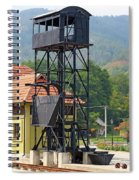 Old Railway Station On Mountain Spiral Notebook