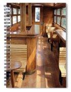 Old Railway Wagon Interior Vintage Spiral Notebook