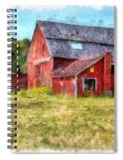 Old Red Barn Abandoned Farm Vermont Spiral Notebook