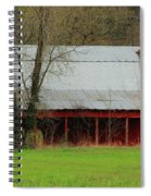 Old Red Barn In Jefferson County Spiral Notebook