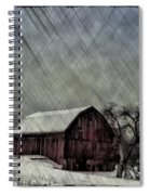 Old Red Barn In Winter Spiral Notebook