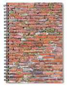 Old Red Brick Wall Spiral Notebook
