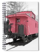 Old Red Caboose Square Spiral Notebook