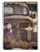 Old Red Dodge Truck Spiral Notebook