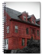 Old Red House In Shelburne Falls Spiral Notebook