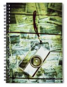 Old Retro Film Camera In Creative Composition Spiral Notebook