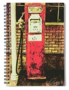 Old Roadhouse Gas Station Spiral Notebook