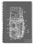 Old Rollie Vintage Camera White T-shirt Spiral Notebook