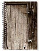 Old Rustic Black And White Barn Woord Door Spiral Notebook