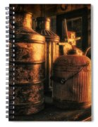 Old Rustic Cans Spiral Notebook