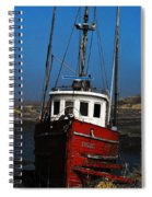 Old Rustic Red Fishing Boat Spiral Notebook