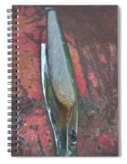 Old Rusty Hood At 9000 Feet Rocky Mountains Co Spiral Notebook