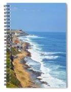 Old San Juan Coastline 3 Spiral Notebook
