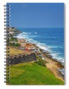 Old San Juan Coastline Spiral Notebook