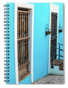 Old San Juan House In Historic Street In Puerto Rico Spiral Notebook