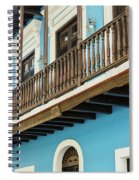 Old San Juan Houses In Historic Street In Puerto Rico Spiral Notebook