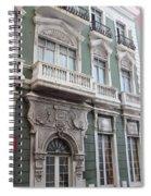 Old San Juan Puerto Rico Downtown Green Spiral Notebook