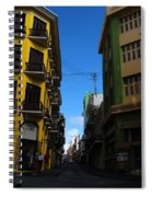 Old San Juan Puerto Rico Downtown On The Corner Spiral Notebook