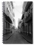 Old San Juan Puerto Rico Downtown On The Street Spiral Notebook