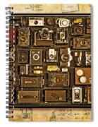 'old School' Cameras Spiral Notebook