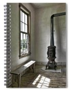 Old School House Stove Spiral Notebook