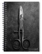 Old Scissors Spiral Notebook