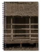 Old Shack In Sepia Spiral Notebook