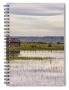 Old Shed On Marsh Spiral Notebook