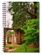 Old Sheldon Church Ruins 3 Spiral Notebook