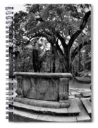 Old Sheldon Church Ruins Beaufort Sc Black And White Spiral Notebook
