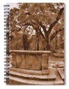 Old Sheldon Church Ruins Beaufort Sc Sepia Spiral Notebook