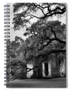 Old Sheldon Church Ruins Black And White 3 Spiral Notebook