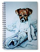 Old Shoe Pup Spiral Notebook