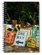 Old Sign Spiral Notebook