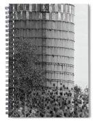 Old Silo Bw Spiral Notebook