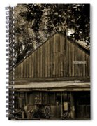 Old Spanish Sugar Mill Sepia Spiral Notebook