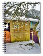 Old Stable - Silent Winter Spiral Notebook