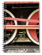 Old Steam Locomotive Iron Rusty Wheels Spiral Notebook