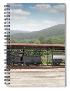 Old Steam Locomotive On Railway Station Spiral Notebook