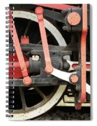Old Steam Locomotive Wheels Spiral Notebook