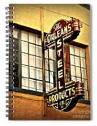 Old Steel Neon Sign Spiral Notebook