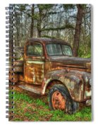 Old Still Art 1947 Ford Stakebed Pickup Truck Ar Spiral Notebook