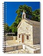 Old Stone Chapel In Primosten Spiral Notebook