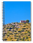Old Stone Church And Green Energy Plant Spiral Notebook