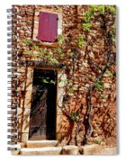 Old Stone House In Provence Spiral Notebook