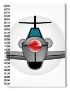 Old Style Fighter Aircraft Spiral Notebook